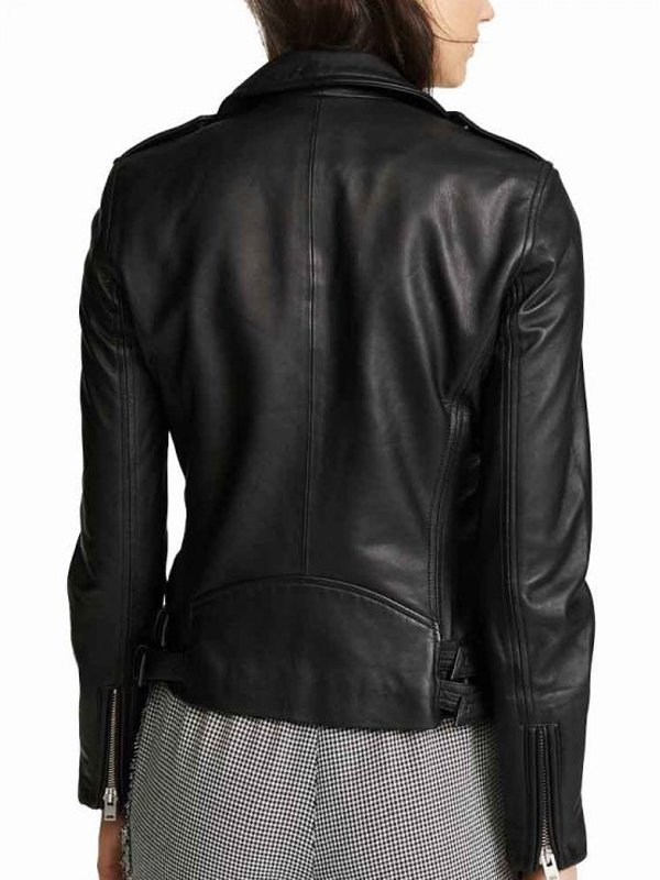 Lois Lane Tv Series Superman & Lois Elizabeth Tulloch Black Leather Biker Jacket