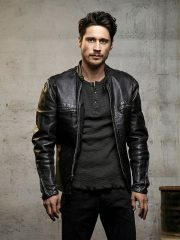 Peter Gadiot Tv Series Queen Of The South James Valdez Black Leather Biker Jacket