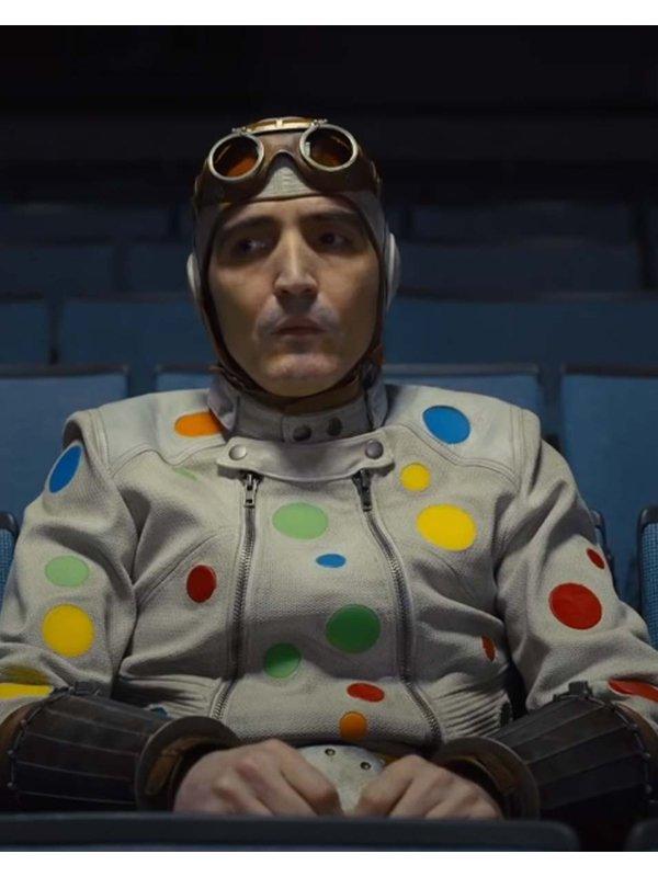 Polka-Dot Man The Suicide Squad David Dastmalchian White Leather Jacket