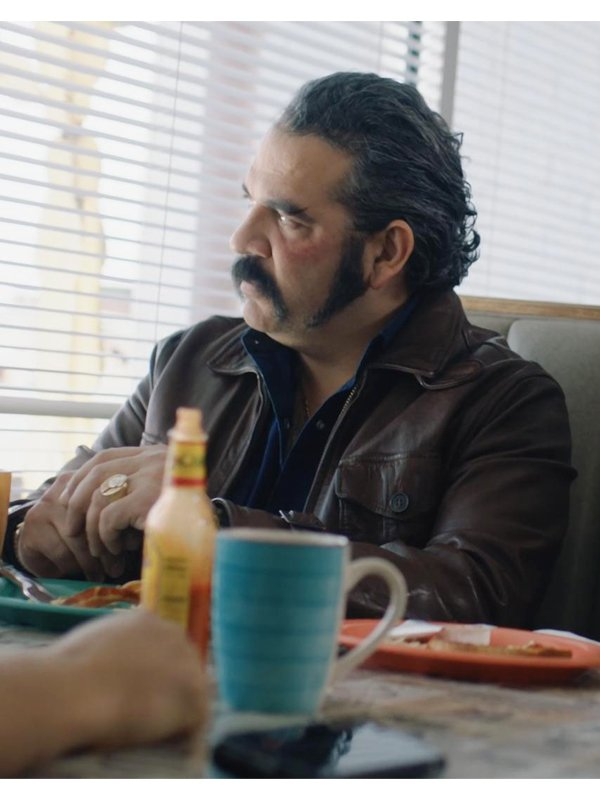 Pote Galvez Tv Series Queen Of the South Hemky Madera Leather Brown Jacket