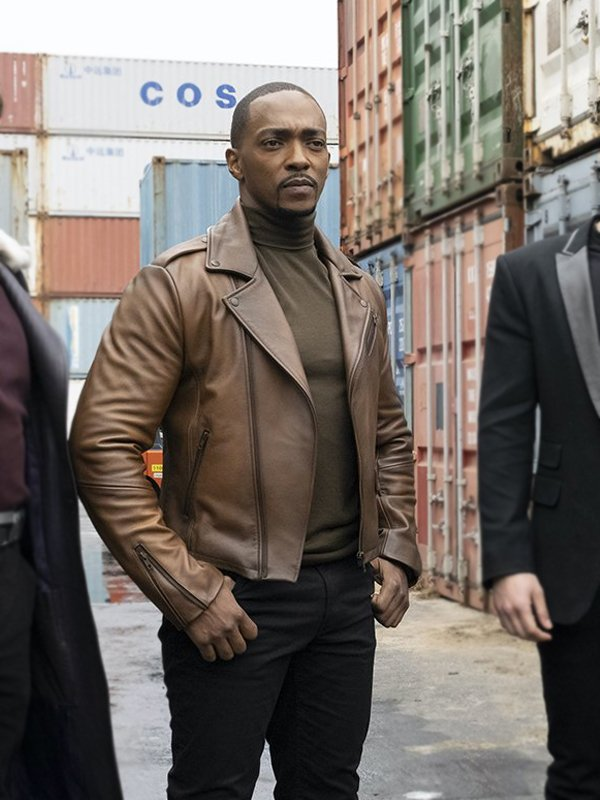 Sam Wilson The Falcon & the Winter Soldier Biker Leather Jacket