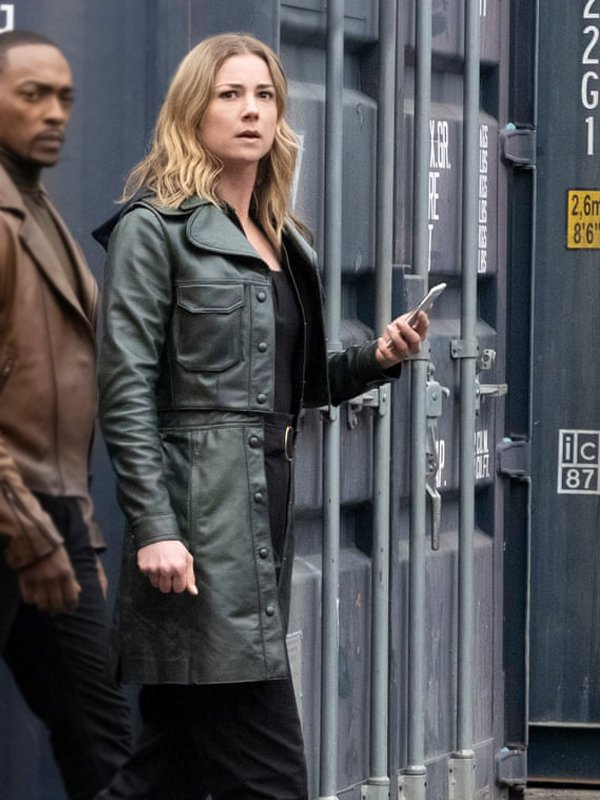 Sharon Carter The Falcon & the Winter Soldier Emily VanCamp Green Leather Coat