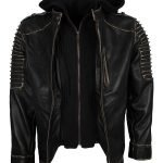 Suicide Squad Joker Black Leather Jacket