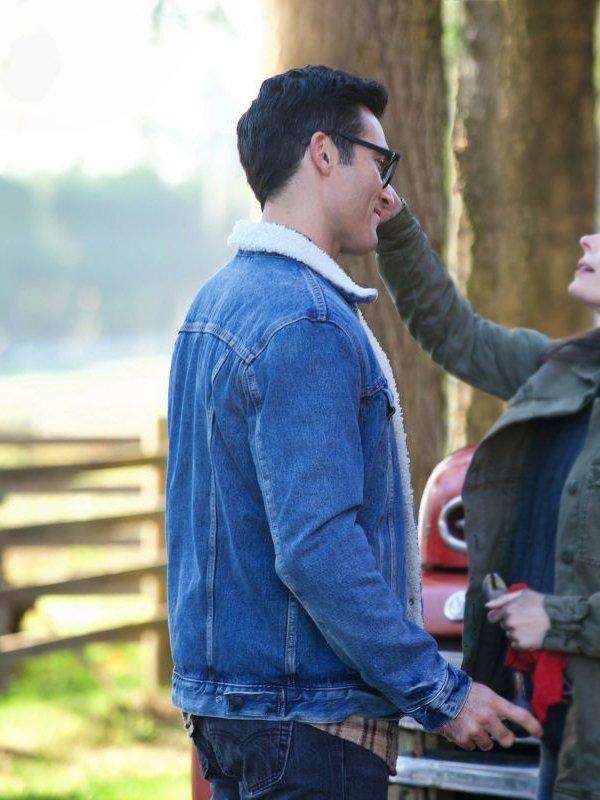 Superman and Lois Clark Kent Denim Jacket