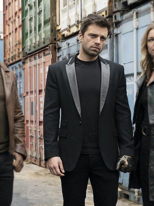 The Falcon & The Winter Soldier Sebastian Stan Black Blazer