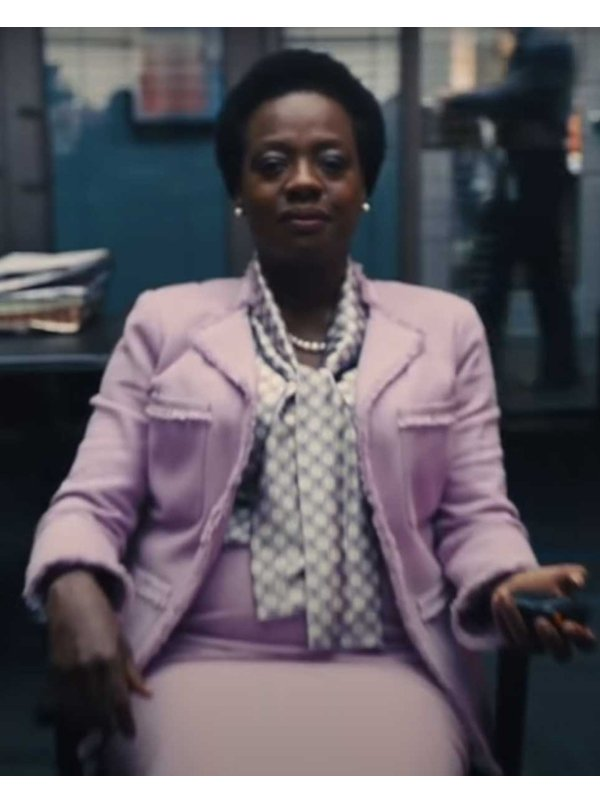 The Suicide Squad Viola Davis Pink Blazer
