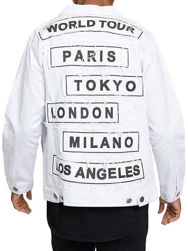 Victorious Mens World Tour Vintage Jean Jacket
