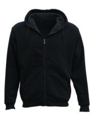 Adult Unisex Black Zip Up Hoodie