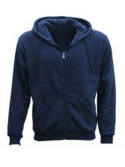 Adult Unisex Blue Zip Up Hoodie