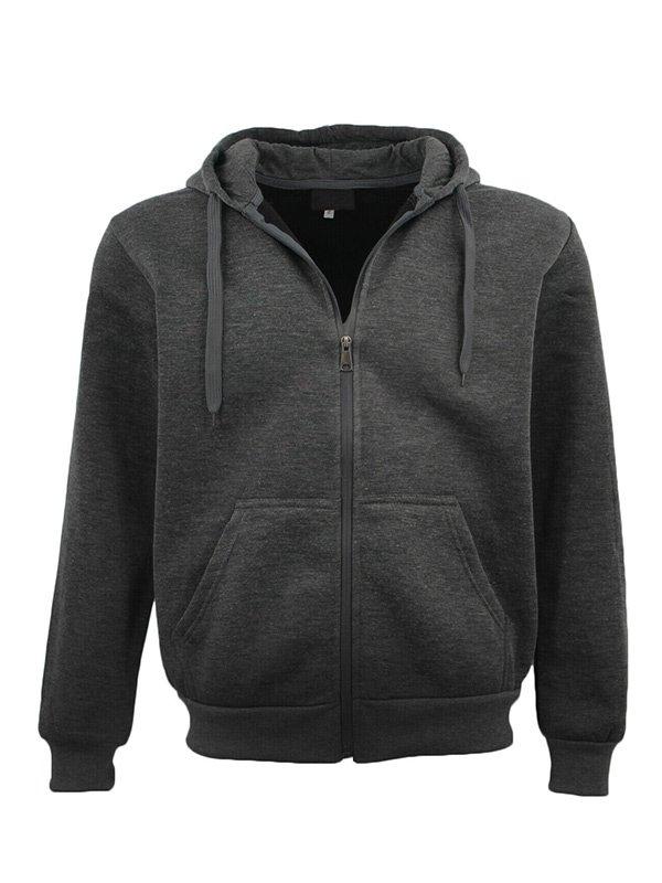 Adult Unisex Dark Grey Zip Up Hoodie