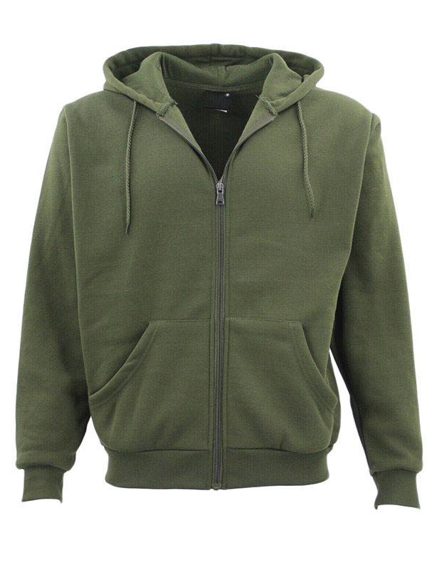 Adult Unisex Green Zip Up Hoodie