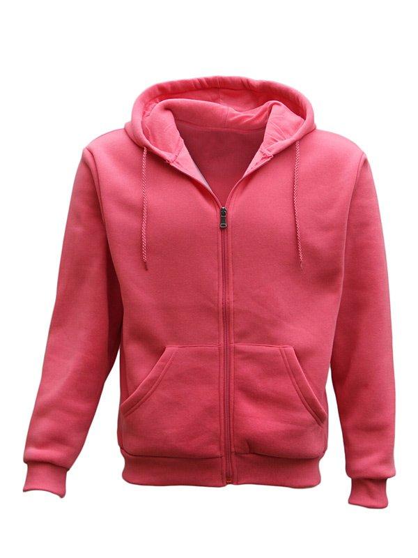 Adult Unisex Pink Zip Up Hoodie