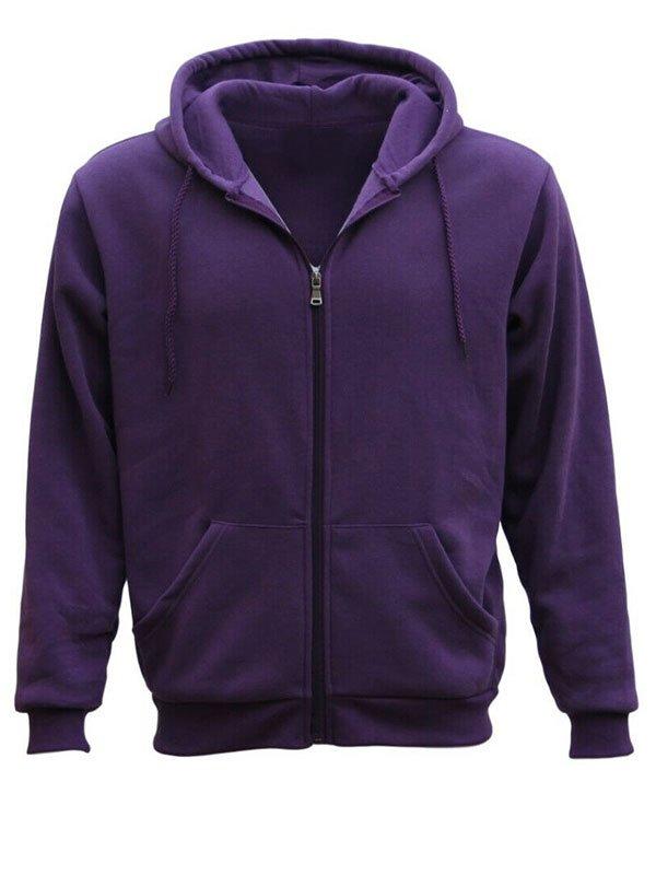 Adult Unisex Purple Zip Up Hoodie