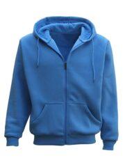 Adult Unisex Sky Blue Zip Up Hoodie
