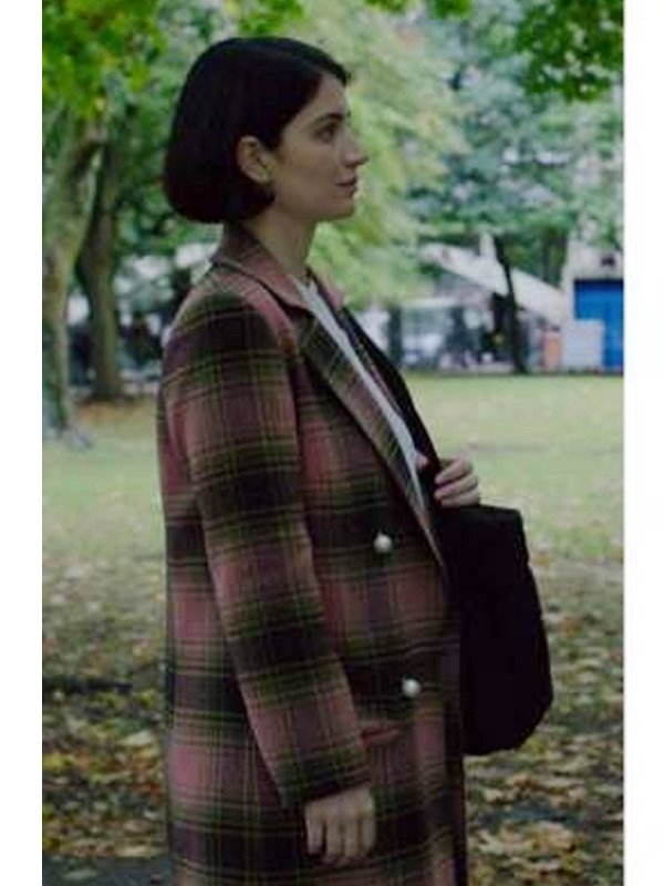 Behind Her Eyes Eve Hewson Checked Trench Coat