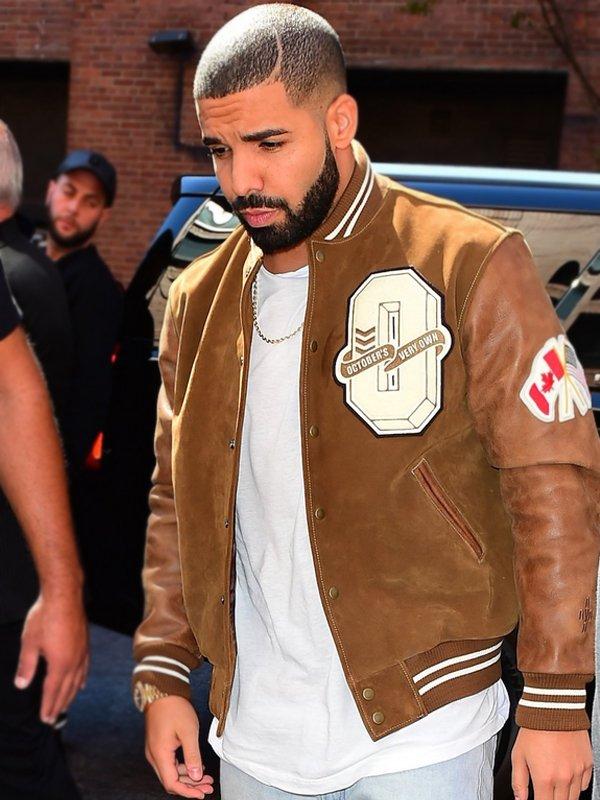 Drake Suede Leather Varsity Jacket