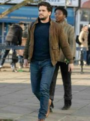 Eternals Kit Harington Suede Leather Jacket