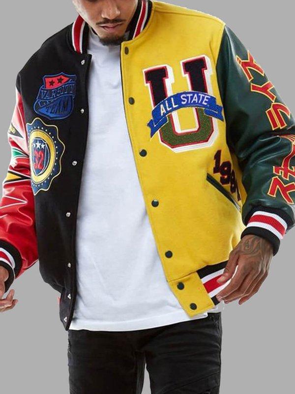 Streetwear Patchwork Bomber Jacket