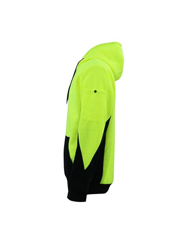 Mens Workwear Pull Over Style Hoodie With Kangaroo Pen Pocket