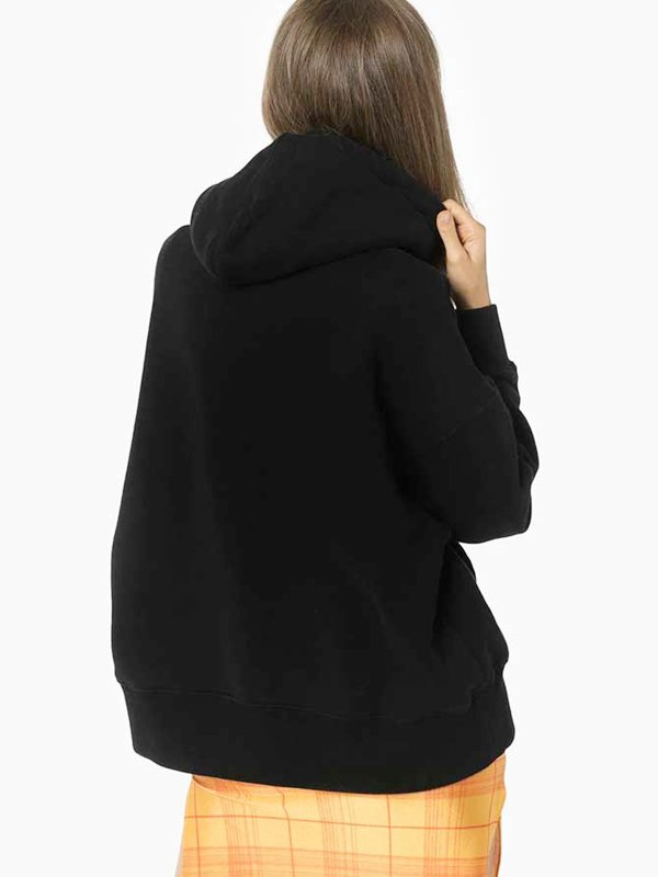 Palm Angels Bear Print Black Pullover Hoodie For Womens