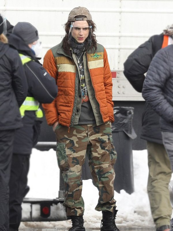 Quentin Don't Look Up Timothée Chalamet Orange Puffer Jacket