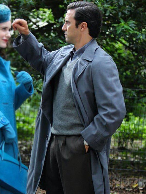 The Marvelous Mrs. Maisel Milo Ventimiglia Long Grey Trench Coat