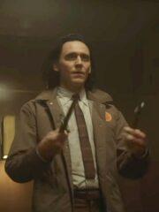Tv Series Loki 2021 Tom Hiddleston Brown Cotton Jacket