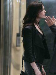 Tv Series Wecrashed Anne Hathaway Biker Leather Jacket