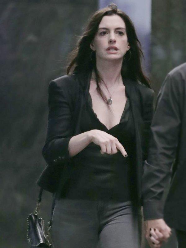 vWecrashed Anne Hathaway Black Jacket
