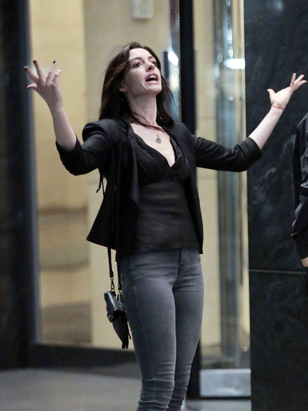 Wecrashed Anne Hathaway Leather Jacket