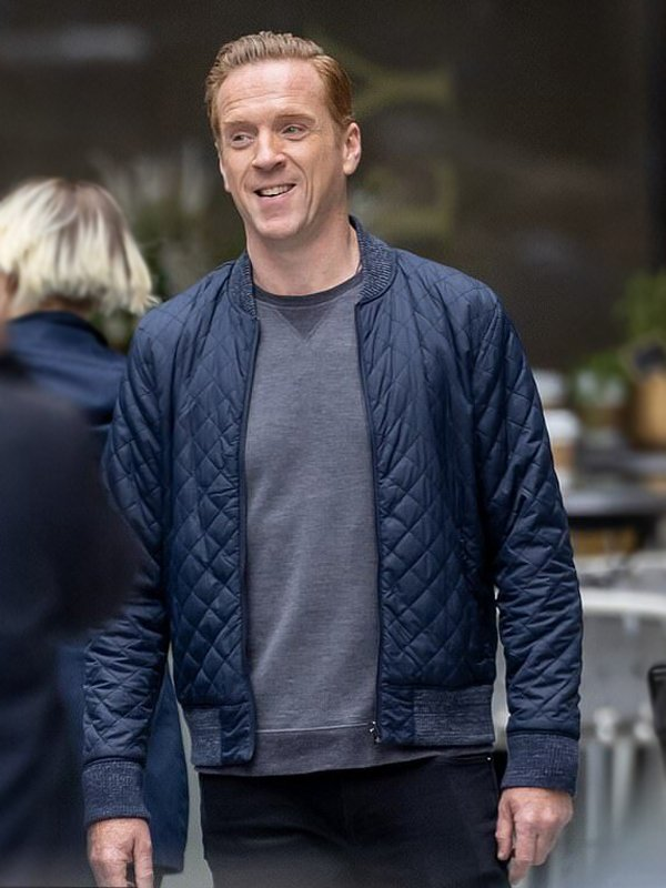 Billions Damian Lewis Quilted Bomber Jacket