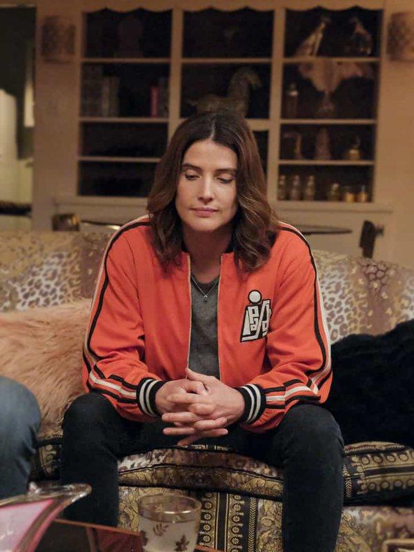 Cobie Smulders Tv Series Stumptown Dex Parios Orange Bomber Jacket