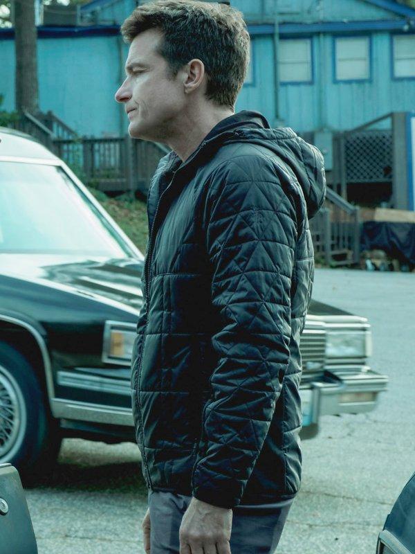 Jason Bateman Tv Series Ozark Marty Byrde Quilted Black Hooded Jacket