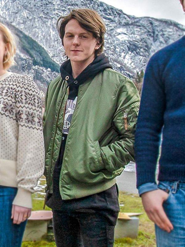 Jonas Strand Ragnarok Laurits Gravli Green Bomber Jacket