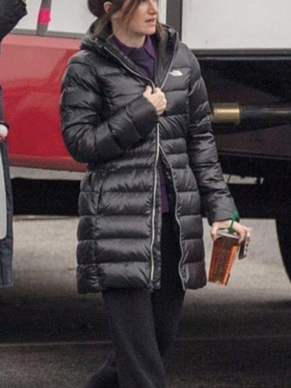 Kathryn Hahn WandaVision Agnes Black Hooded Puffer Jacket