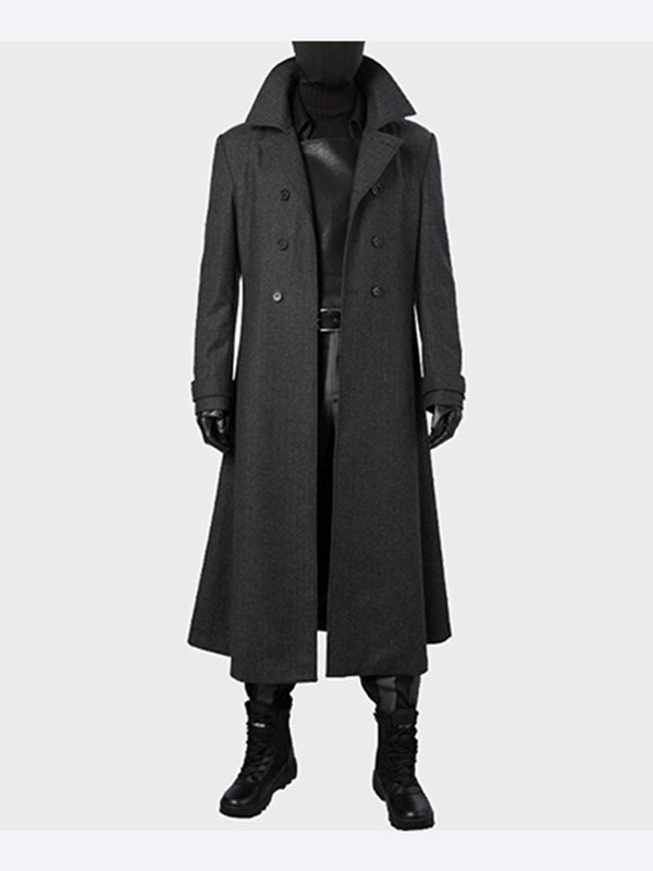 Spider Man Into The Spider Verse Noir Trench Coat