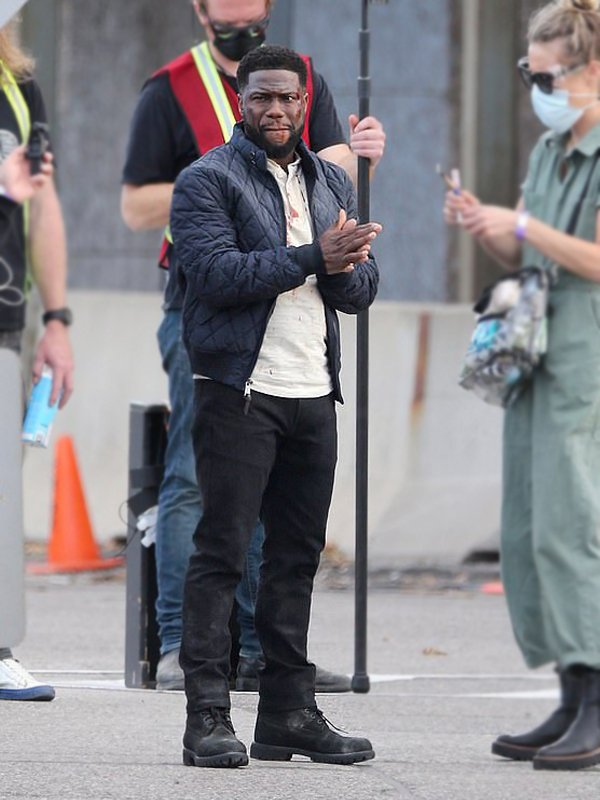 The Man from Toronto Kevin Hart Quilted Black Jacket