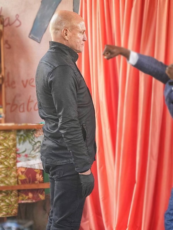 The Man from Toronto Woody Harrelson Leather Black Jacket