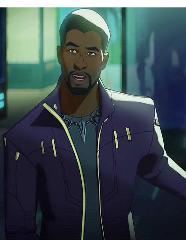 Tv Series What If...? Chadwick Boseman Purple Jacket