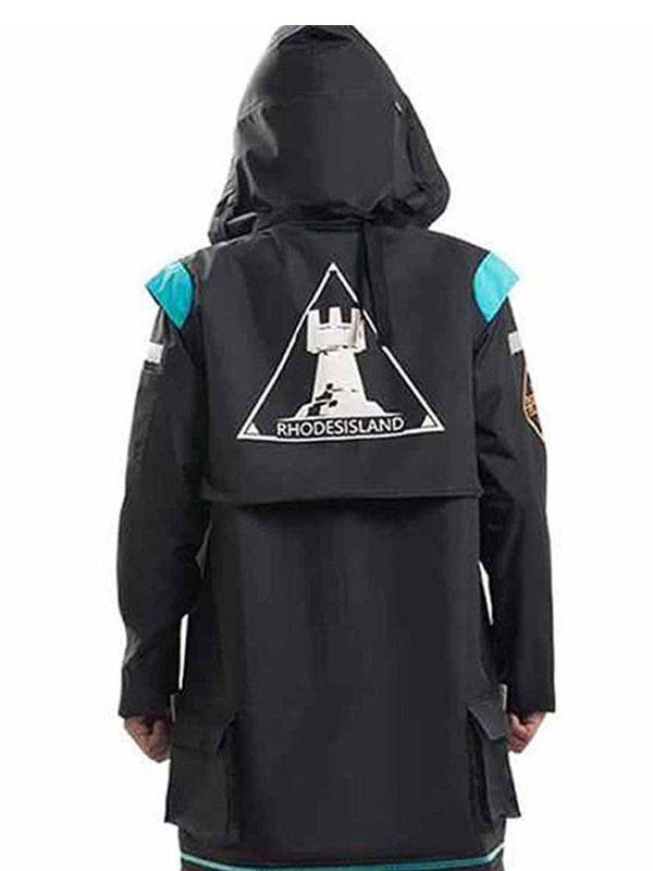 Video Game Arknights Doctor Black Hooded Coat