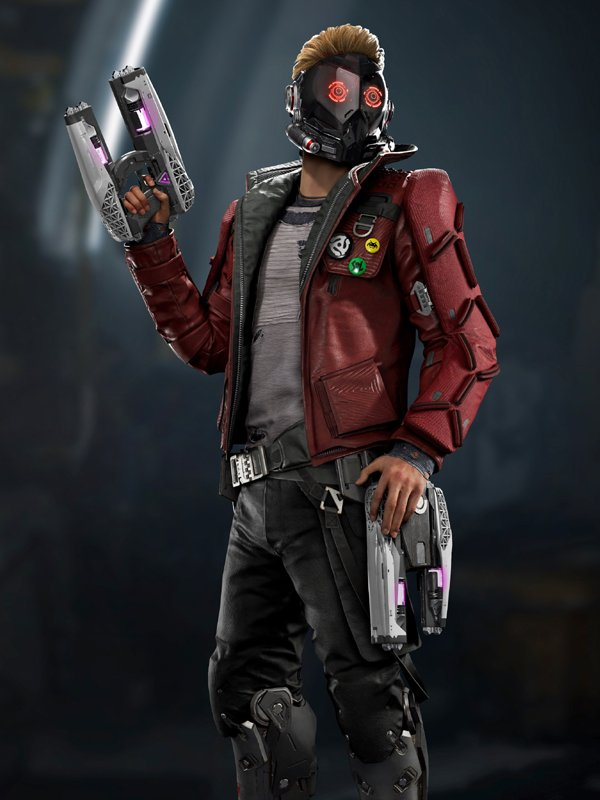 Video Game Guardians of the Galaxy Star Lord Leather Jacket