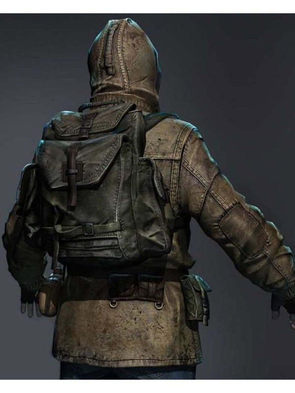 Video Game S.T.A.L.K.E.R. 2 Rookie Stalker Hooded Leather Jacket