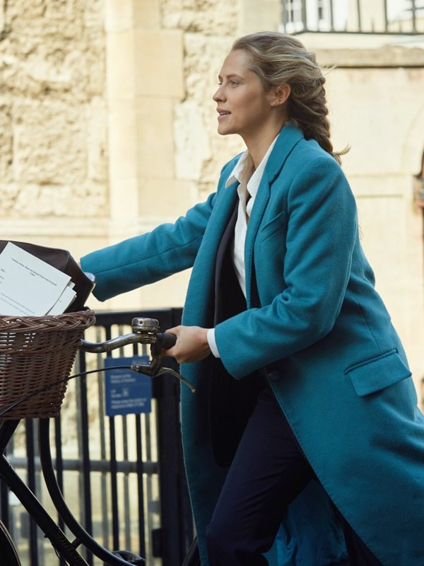 Diana Bishop A Discovery of Witches Teresa Palmer Blue Long Coat