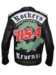 Faith BSA Rockers Revenge George Michael Black Leather Jacket