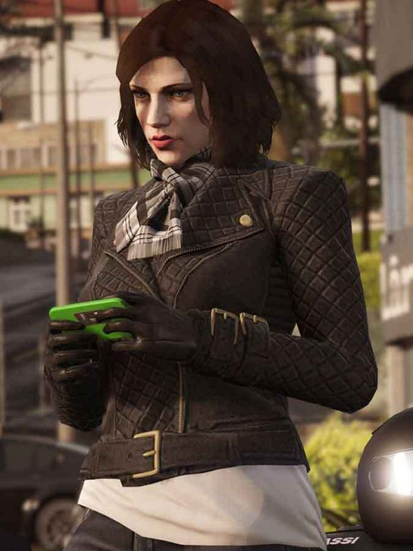 GTA 6 Female Protagonist Quilted Jacket