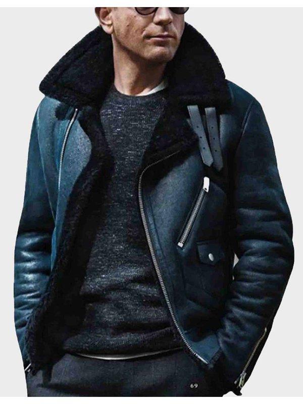 James Bond Shearling B3 Leather Jacket