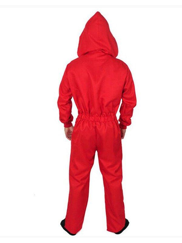 La Casa De Papel Tv Series Money Heist Dali Hooded Red Costume
