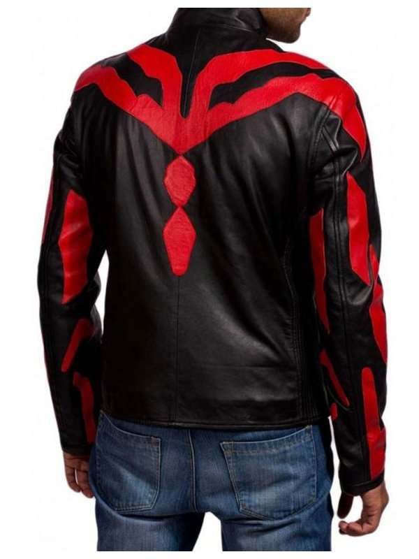 Star Wars Darth Maul Black & Red Leather Jacket