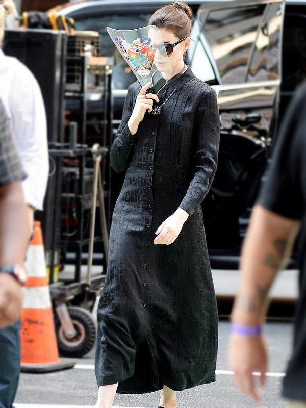 WeCrashed Anne Hathaway Button-up Dress