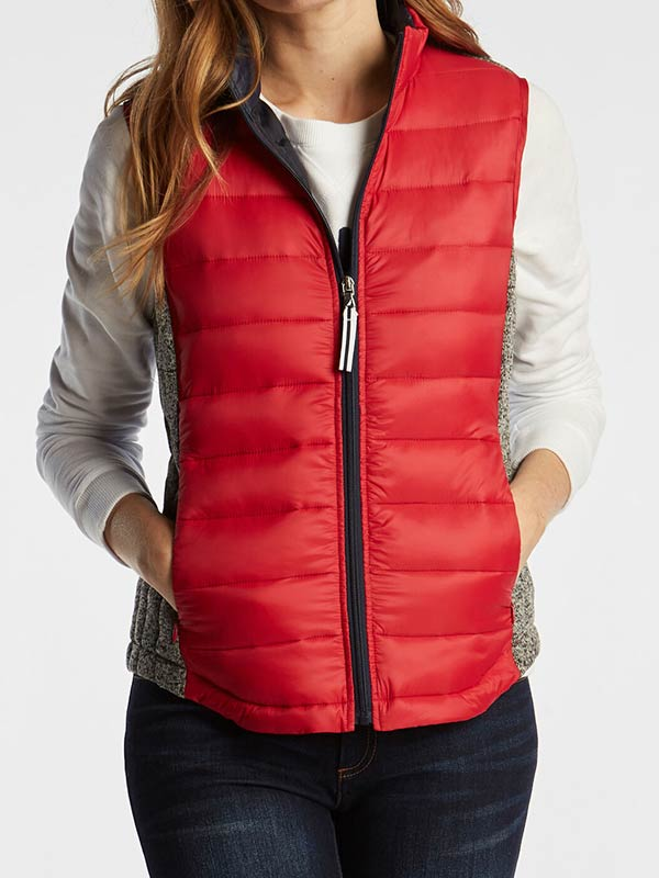 Womens Red Puffer Vest